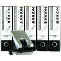 キョーワハーツ NOUQUE ヌーケ ファイル+パンチセット A4タテ NQSF5P1 1セット(パンチャー1台+ファイル5冊) (直送品)