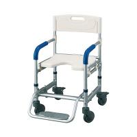 マルセンオオキ イーストアイすま~いるシャワーベンチ (キャリータイプ) 本体 FRCS 入浴用車椅子 (直送品)