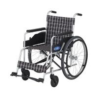 車いす 背固定 (400MM) 本体 NC-1H 日進医療器 自走用 アルミ製 (直送品)