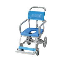 ウチヱ シャワーキャリー楽チル(O型シート) 本体 肘掛け跳ね上げ式・背付き RT-001 1台 入浴用車椅子 (直送品)