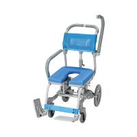 ウチヱ シャワーキャリー楽チル(U型シート) 本体 肘掛け跳ね上げ式・背付き RT-005 1台 入浴用車椅子 (直送品)