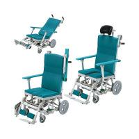 ウチヱ シャワーラクリク(穴無ヘッドレスト付) 本体 キャスター付き 肘掛け跳ね上げ式 SRC-002 1台 入浴用車椅子 (直送品)