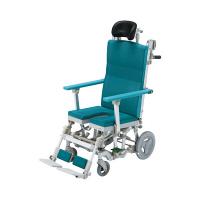 ウチヱ シャワーラクリク(U型ヘッドレスト付) 本体 SRC-004 入浴用車椅子 (直送品)