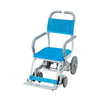 ウチヱ シャワーラク(低座型/穴無シート) 本体 キャスター付き 肘掛け跳ね上げ式 SWR-101 1台 入浴用車椅子 (直送品)