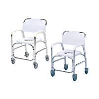 日進医療器 アルミ製入浴用車椅子(ステンレスキャスター) 本体 肘掛け・背付き TY535DX 1台 (直送品)