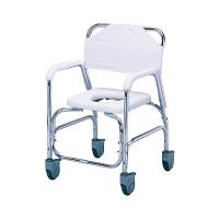 日進医療器 アルミ製入浴用車椅子(樹脂キャスター) 本体 肘掛け・背付き TY535DXE 1台 (直送品)