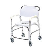 日進医療器 アルミ製入浴用車椅子(スチールキャスター) 本体 肘掛け・背付き TY535E 1台 (直送品)