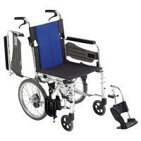 ミキ 車いす ウイング(400MM)スイングアウト 本体 BAL-4 介助用 背折れ式 アルミ製 介助ブレーキ付き (直送品)