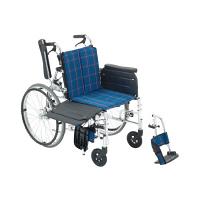 ミキ 横乗り車いすラクーネ2 #54 LK-2 自走用 背折れ式 アルミ製 介助ブレーキ付き (直送品)