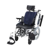 車いす グレイッシュB NAH-F5 日進医療器 介助用 背折れ式 アルミ製 介助ブレーキ付き リクライニング・ティルト (直送品)