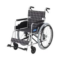 車いす (400MM) 本体 NC-1CB 日進医療器 自走用 背折れ式 アルミ製 介助ブレーキ付き (直送品)