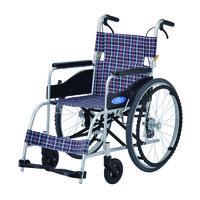 車いす 本体 NEO-1 日進医療器 自走用 背折れ式 アルミ製 介助ブレーキ付き (直送品)