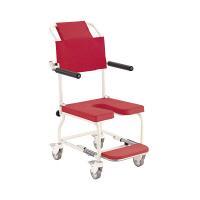カワムラサイクル 簡易入浴用車椅子 (アルミセイ) レッド KSC-1 (直送品)