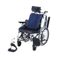 車いす グレイッシB NAH-F7 日進医療器 自走用 背折れ式 アルミ製 介助ブレーキ付き リクライニング・ティルト (直送品)