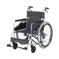 車いす 低床(400MM) NC-1CB 日進医療器 自走用 背折れ式 アルミ製 介助ブレーキ付き (直送品)