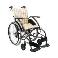 カワムラサイクル 車いす カフェモカNo.95 WA22-42S 自走用 背折れ式 アルミ製 介助ブレーキ付き (直送品)