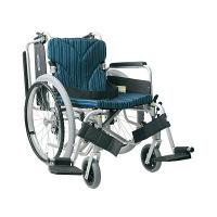 カワムラサイクル 車いす ピーコックB No.102 KA822-40B-M 自走用 背折れ式 アルミ製 介助ブレーキ付き (直送品)