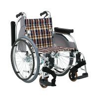 松永製作所 車いす 多機能 AR-501-420 S-2 自走用 背折れ式 アルミ製 介助ブレーキ付き (直送品)