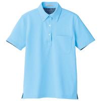 【メーカーカタログ】ボンマックス レディス吸水速乾ポロシャツ(花柄A) ブルー S FB4018L 1枚 (直送品)