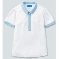 【メーカーカタログ】 KAZEN レディスポロシャツ ホワイトxミント S 239-98-S 1枚  (直送品)