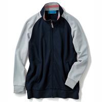 【メーカーカタログ】 KAZEN ジャージジャケット ネイビーxグレー S 243-18-S 1枚  (直送品)
