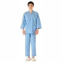 KAZEN 患者衣(スラックス) 男女兼用 ブルー M 286-71 (直送品)