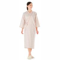 KAZEN 患者衣ガウン (検査着 検診衣) 男女兼用 ベージュ L 289-72 (直送品)