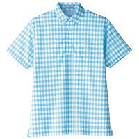 【メーカーカタログ】ボンマックス チェックプリントポロシャツ(半袖) ブルー L FB4523U 1枚 (直送品)