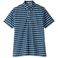 【メーカーカタログ】ボンマックス チェックプリントポロシャツ(半袖) ネイビー 3L FB4523U 1枚 (直送品)