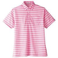 【メーカーカタログ】ボンマックス チェックプリントポロシャツ(半袖) ピンク L FB4523U 1枚 (直送品)