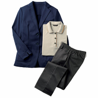 住商モンブラン レディスジャケット 長袖 ネイビー LL 31-0009 (直送品)