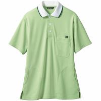 【メーカーカタログ】 住商モンブラン ポロシャツ(男女兼用) グリーン/白 M 32-5034-M 1枚 (直送品)