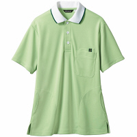 【メーカーカタログ】 住商モンブラン ポロシャツ(男女兼用) グリーン/白 S 32-5034-S 1枚 (直送品)