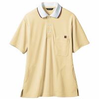 【メーカーカタログ】 住商モンブラン ポロシャツ(男女兼用) イエロー/白 LL 32-5035-LL 1枚 (直送品)