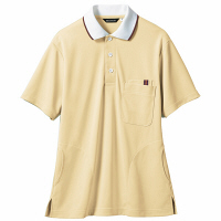 【メーカーカタログ】 住商モンブラン ポロシャツ(男女兼用) イエロー/白 S 32-5035-S 1枚 (直送品)