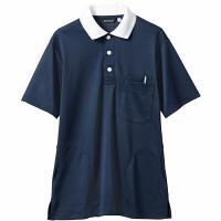 【メーカーカタログ】 住商モンブラン ポロシャツ(男女兼用) ネイビー/白 L 32-5039-L 1枚 (直送品)