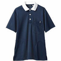 【メーカーカタログ】 住商モンブラン ポロシャツ(男女兼用) ネイビー/白 S 32-5039-S 1枚 (直送品)