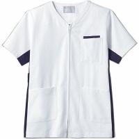 住商モンブラン ジャケット(男女兼用) 半袖 白/ネイビー 3L 72-648 (直送品)
