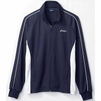 住商モンブラン アシックス 医療白衣 ジャケット(男女兼用) ネイビー/白×ネイビーL CHM505-5050-L 1枚 (直送品)