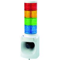 パトライト(PATLITE) パトライト LED積層信号灯付き電子音報知器 色:赤・黄・緑・青 LKEH-402FA-RYGB 1台 751-4719(直送品)