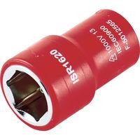 トラスコ中山(TRUSCO) TRUSCO 絶縁ソケット(6角) 差込角6.35 対辺4mm TZ2-04S 1個 762-3968(直送品)