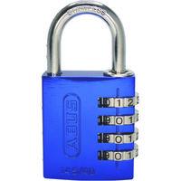 日本ロックサービス ABUS ナンバー可変式ステンレスシャックル南京錠 145IB-40 ブルー 145IB-40-BL 1個 495-7652(直送品)