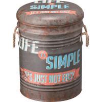東谷 ペール缶スツール ダークグリーンJAM-231B 1脚 (直送品)
