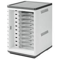 サンワサプライ スマートホン個別鍵付充電キャビネット(10台収納) CAI-CAB34W (直送品)