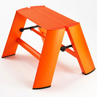 Hasegawa(長谷川工業) アルミ合金 踏み台 ルカーノ ワンステップ オレンジ 24cm ML1.0-1(OR) 1台(直送品)