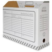 Oficina 収納ボックス ファイルBOXA4 ヨコ型 16枚セット (直送品)