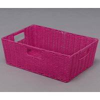 アイリスオーヤマ カラー編みバスケット ピンク KAB-38 1個 (直送品)