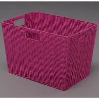 アイリスオーヤマ カラー編みバスケット ピンク KAB-38D 1個 (直送品)