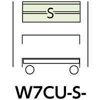 スペシャルワゴン750x500移動式 W7CU-S-G (直送品)