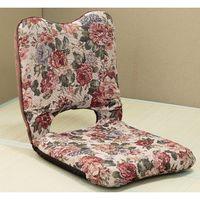 ファミリー・ライフ 枕になる座椅子 花柄 1脚 (直送品)